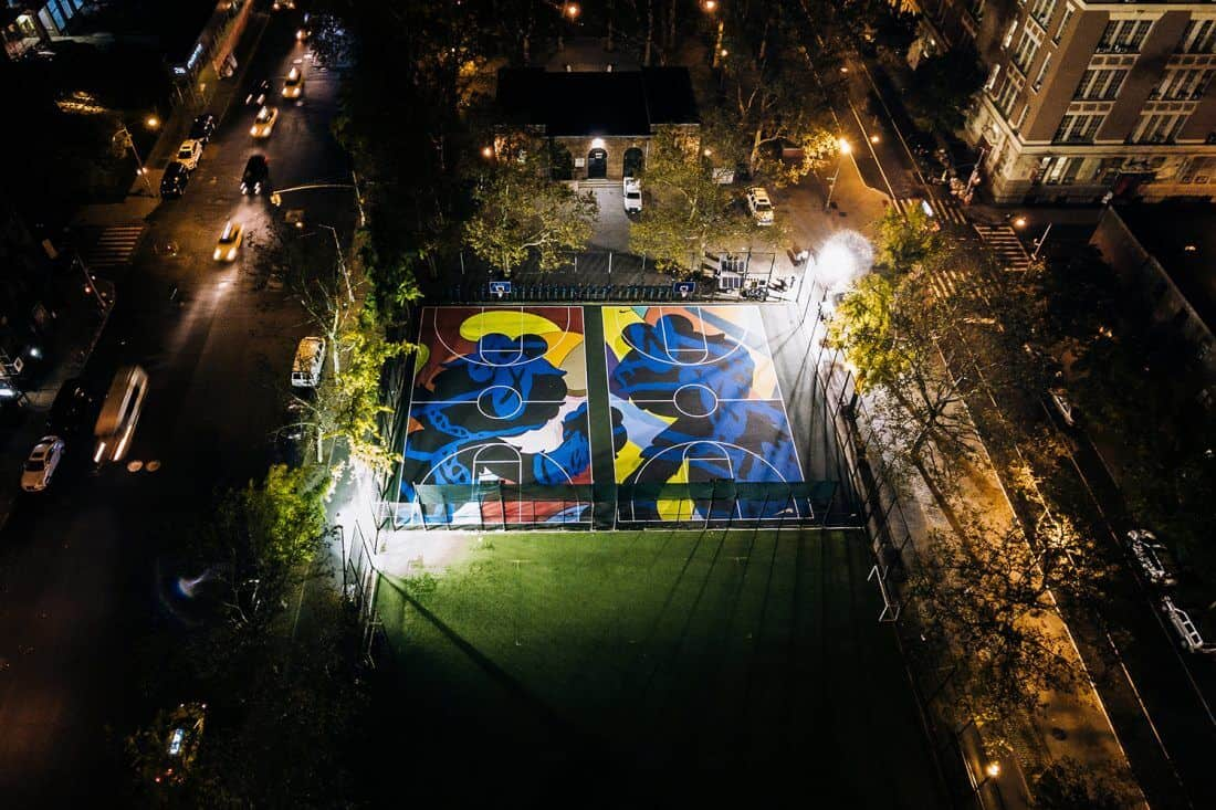 basketbalveld in Brooklyn