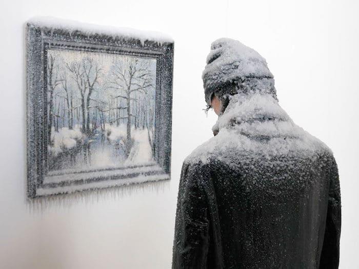 bevroren zelfportret