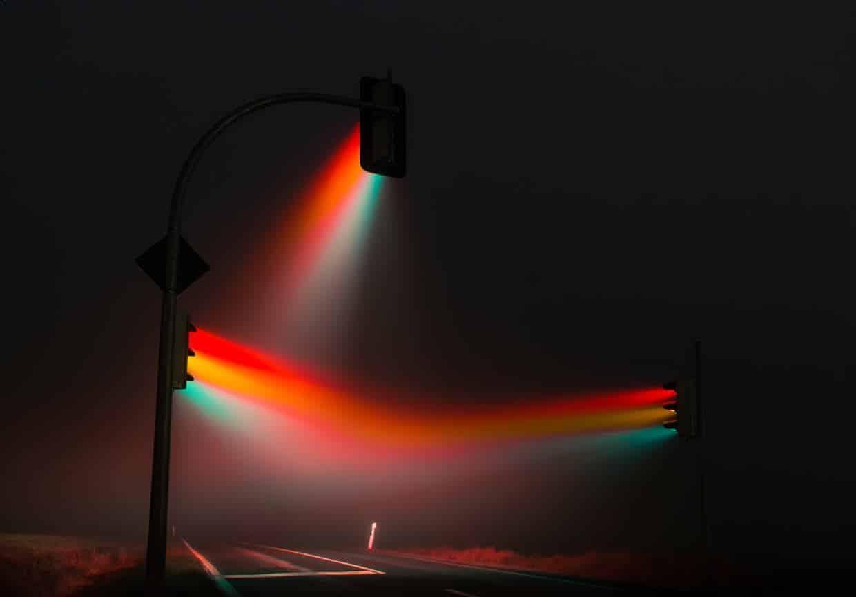 mistig stoplicht