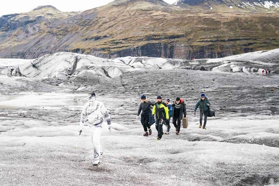 bijzondere campagne voor Moncler op IJsland