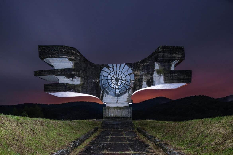 monument uit het voormalig Joegoslavië
