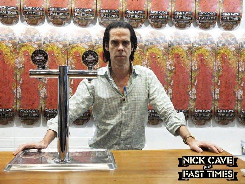 Nick Cave heeft nu zijn eigen skateboard