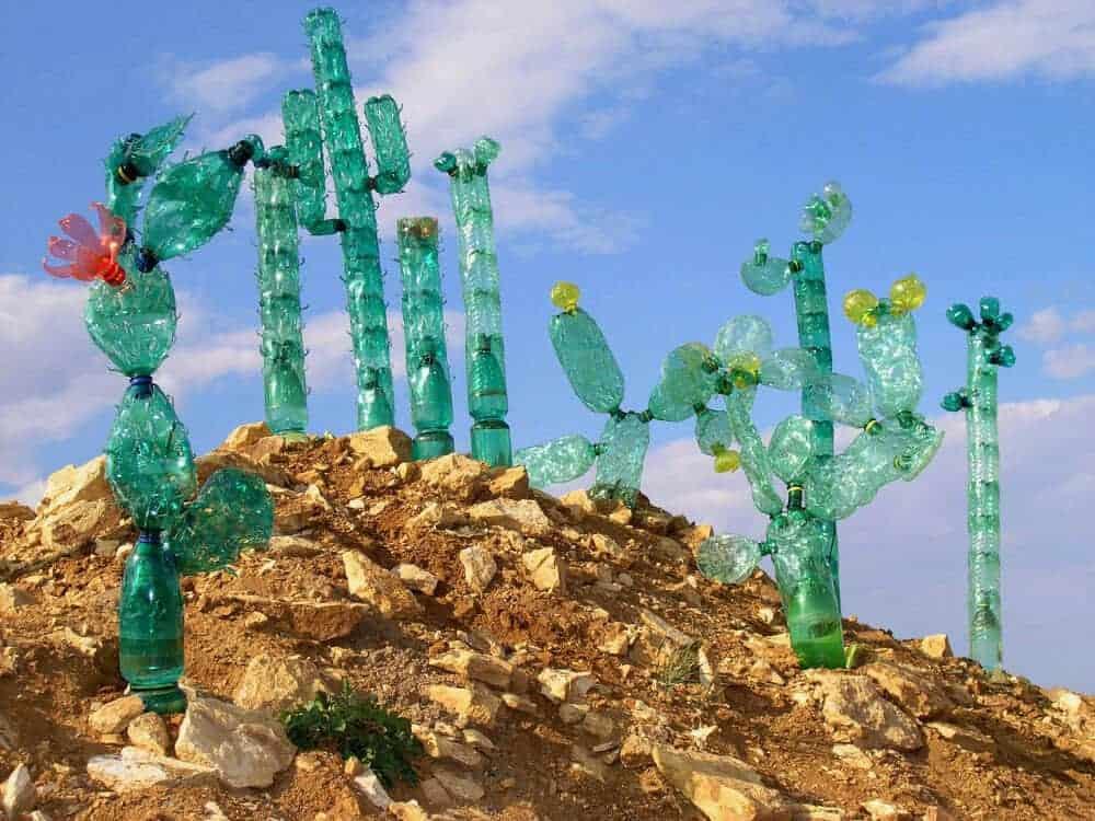 planten gemaakt van oude flessen