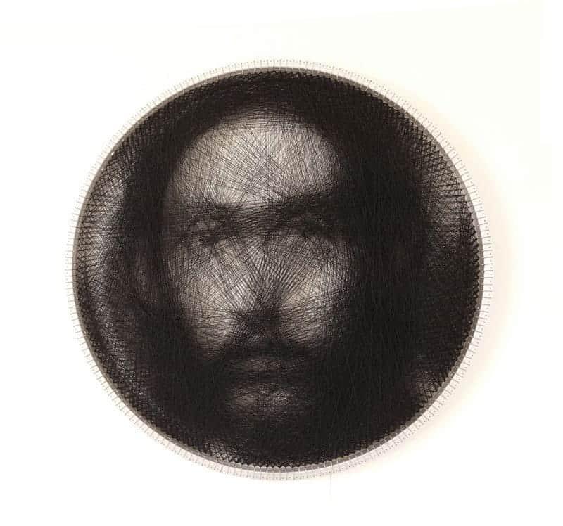 Portret van kunstenaar Petros Vrellis