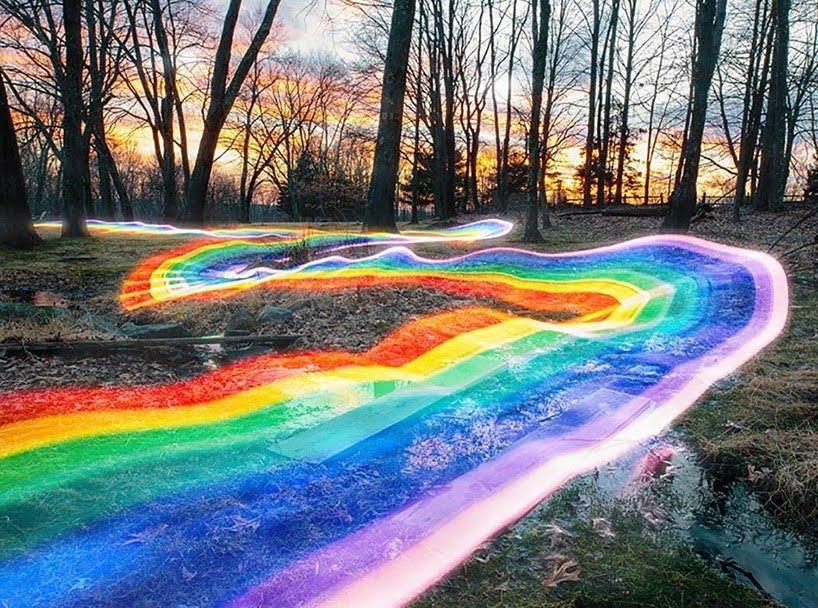 regenboog in de natuur