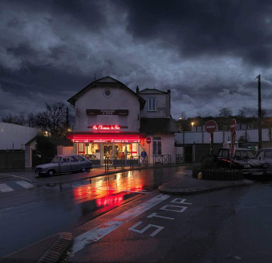 café in Parijs