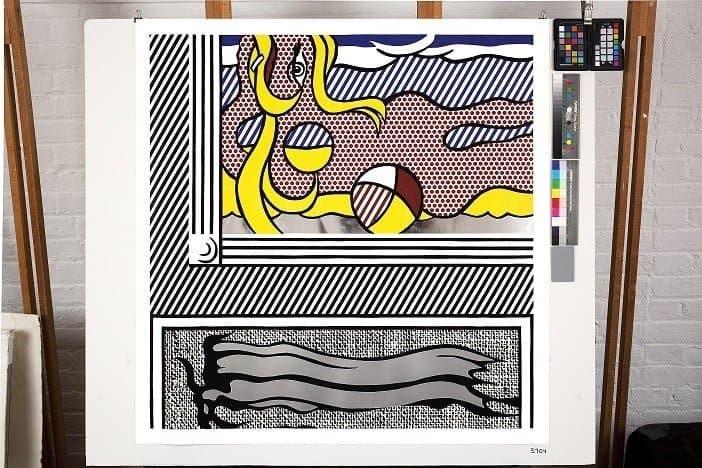 Roy Lichtenstein – Two Paintings Beach Ball, 1984
