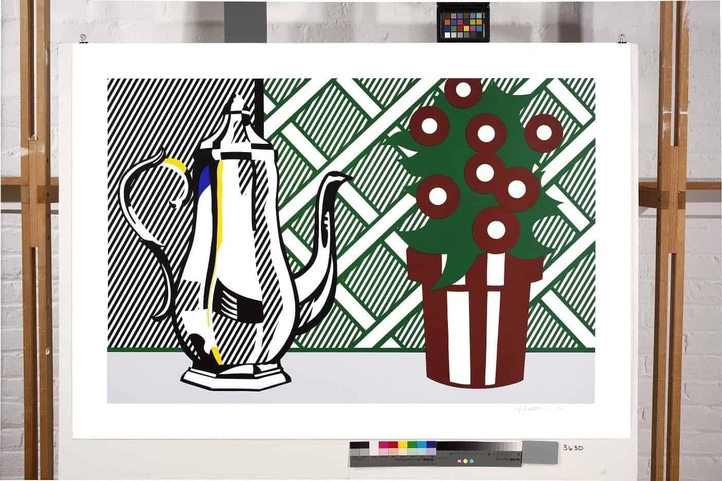 Roy Lichtenstein – Still Life with Coffee Pot and Flower Pot, 1974