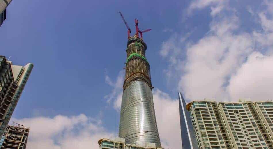 bouw van de Shanghai Tower