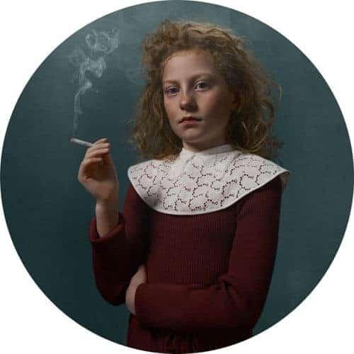 portret van een jonge roker