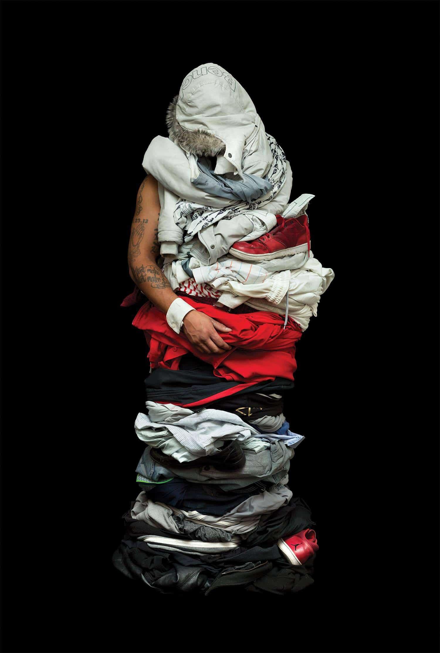 op de foto met al je kleren