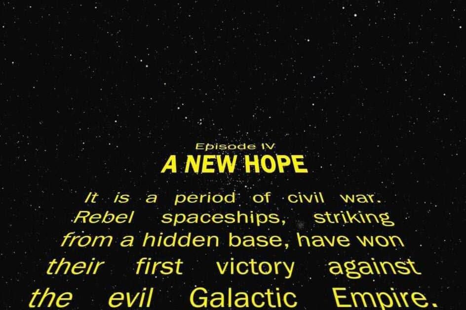 intro van Star wars