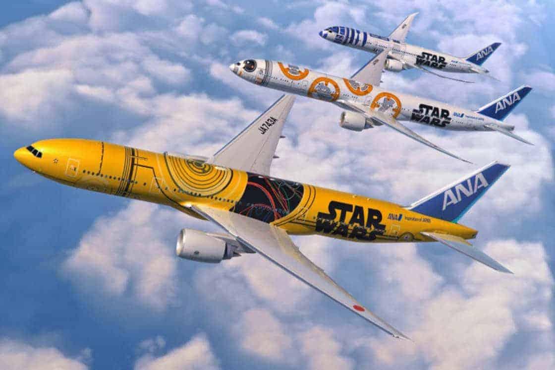 Vliegtuig met star wars-print