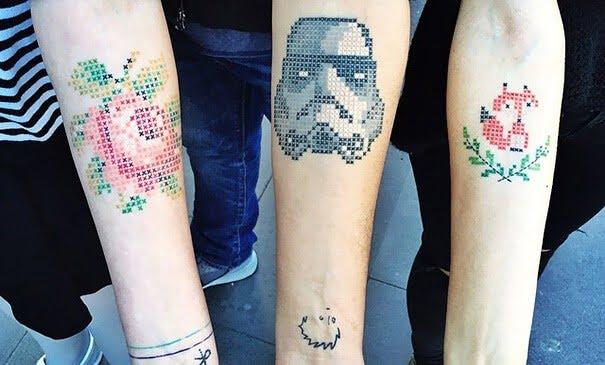 geborduurde tatoeage