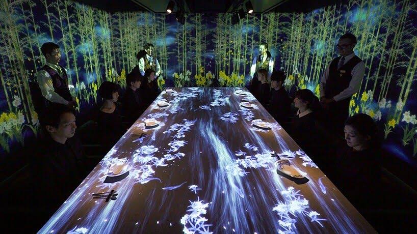 interactief restaurant in Tokio