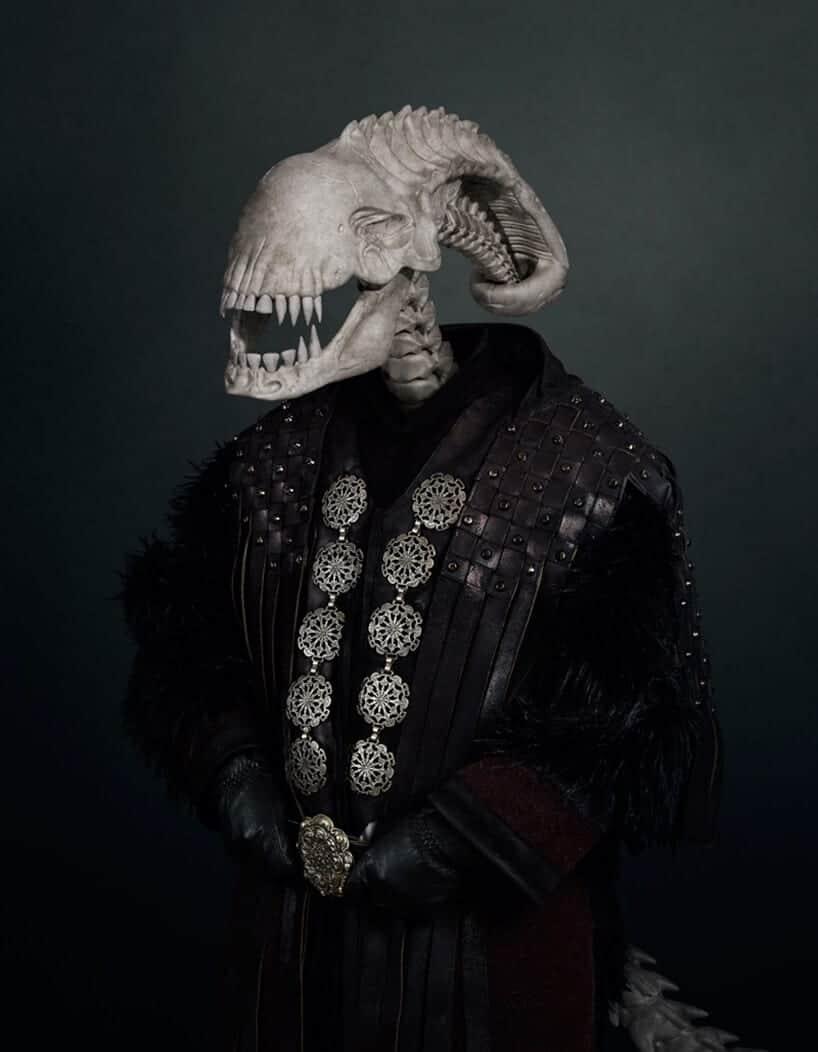 schedel van een slechterik