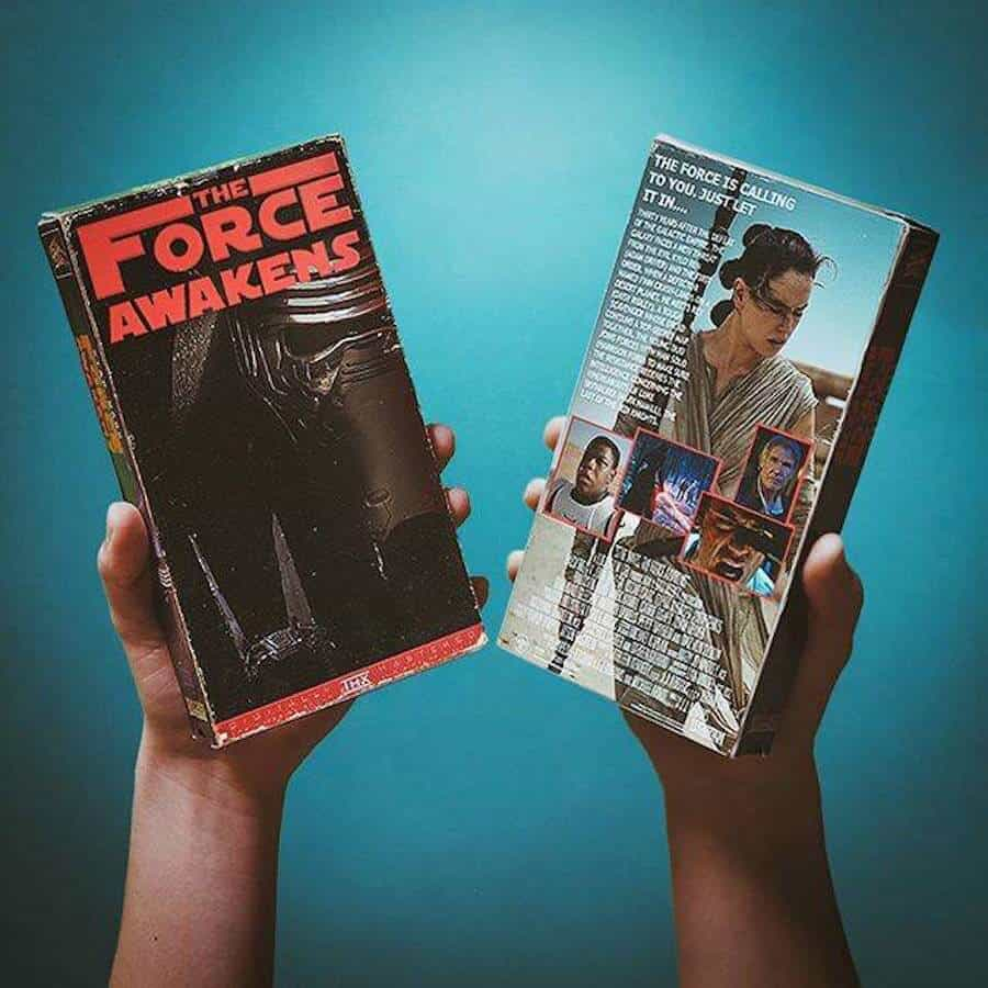 Star Wars: The Force Awakens op VHS