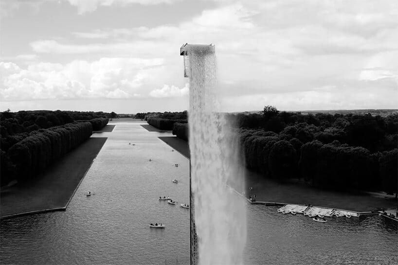waterval van Olafur Eliasson in Versailles