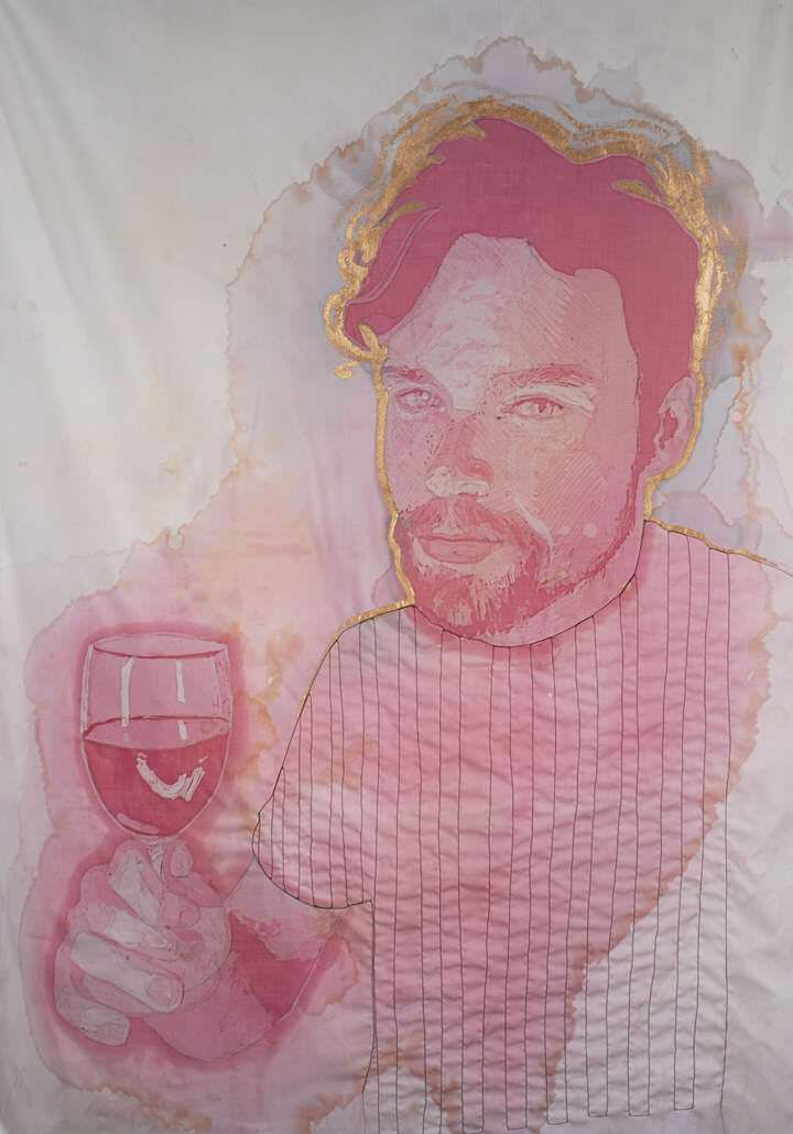 mooie wijnvlek