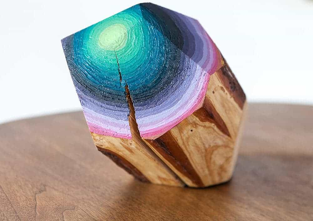 houten edelsteen