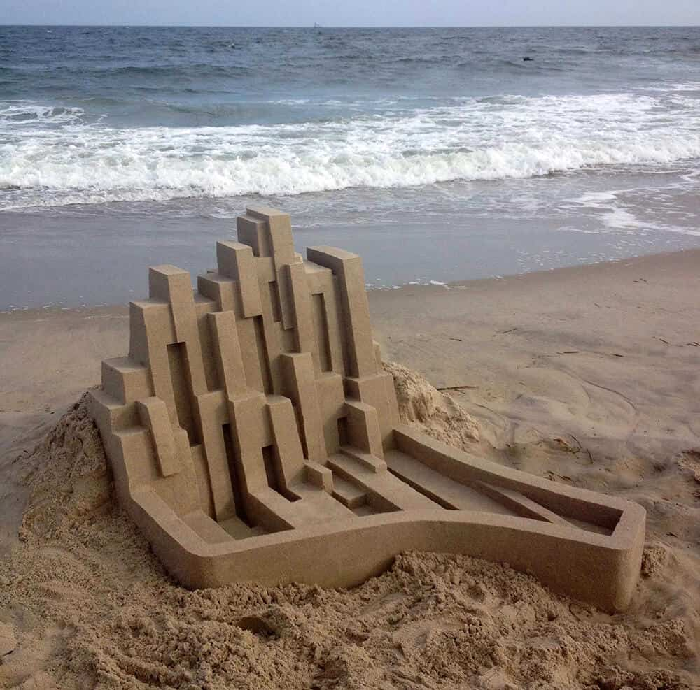 modern zandkasteel