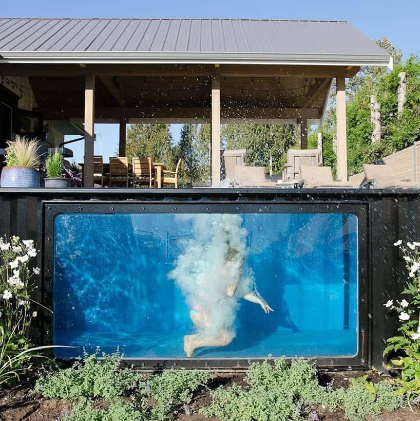 zwembad in zeecontainer