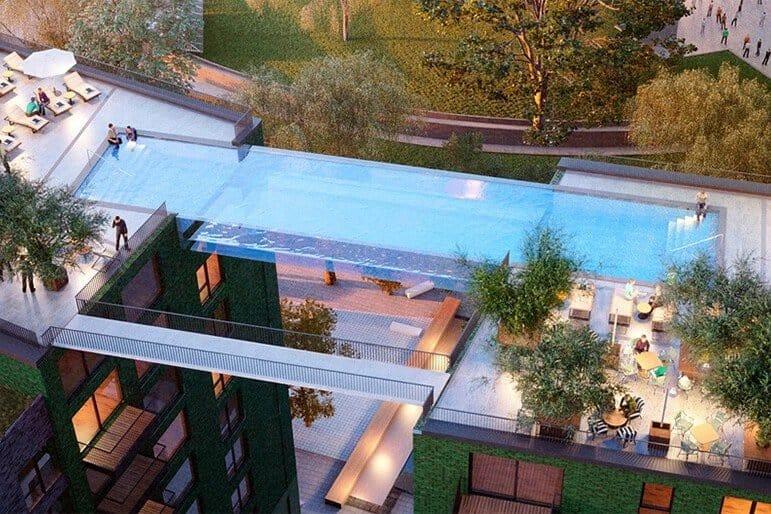 glazen zwembad in Londen